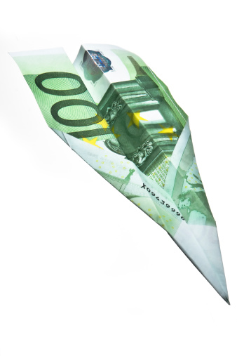 istock 100 Euros  Banknote Paper Plane 178935270