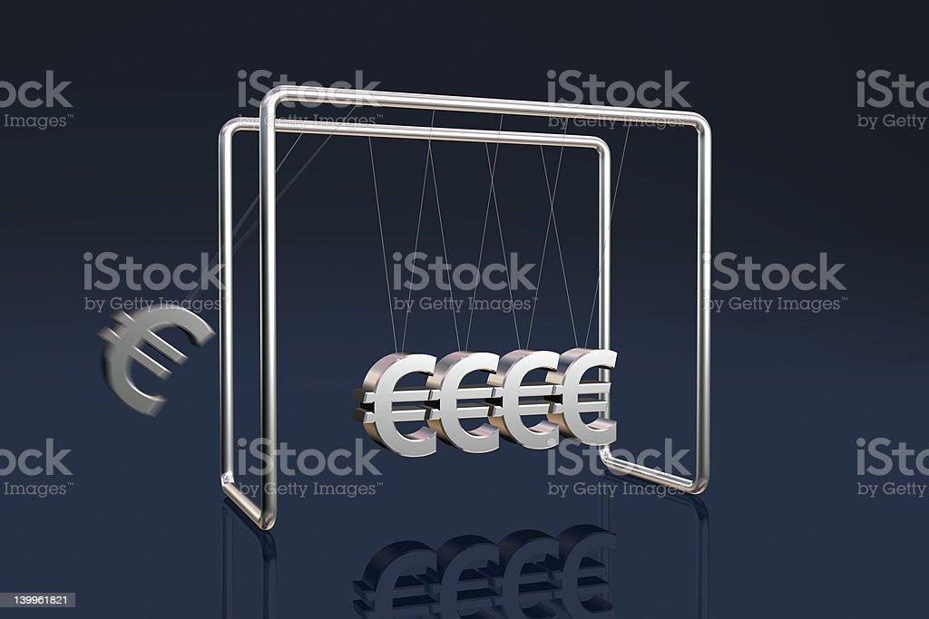 Euros cradle royalty-free stock photo