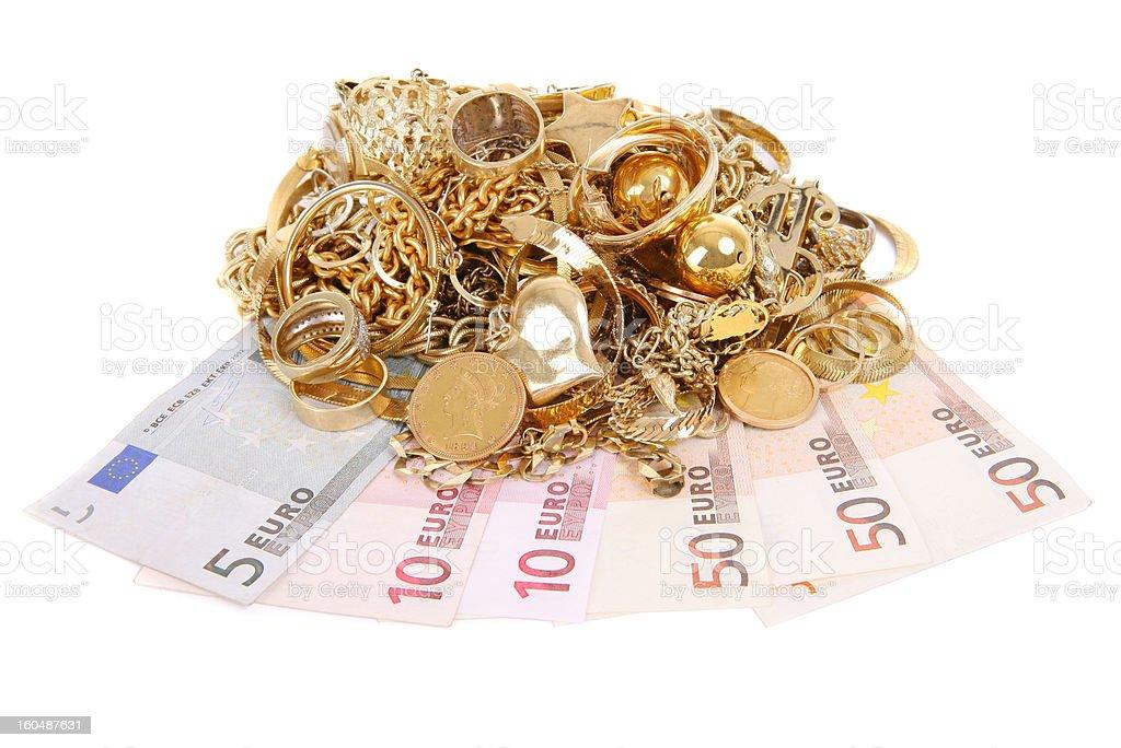 Euros for Gold royalty-free stock photo