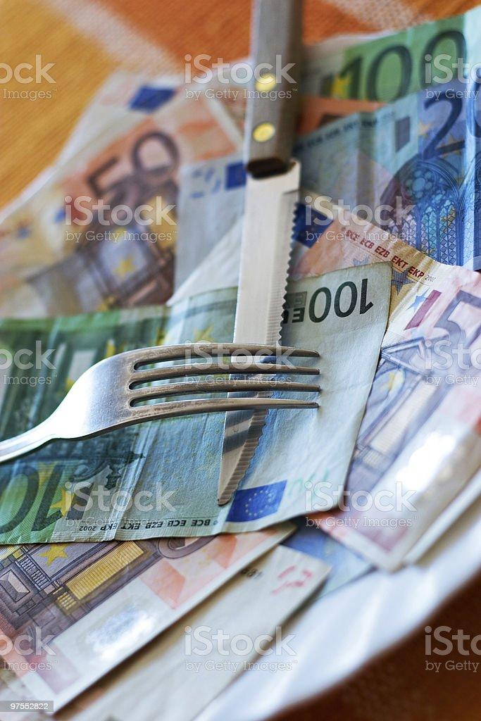 Euros photo libre de droits