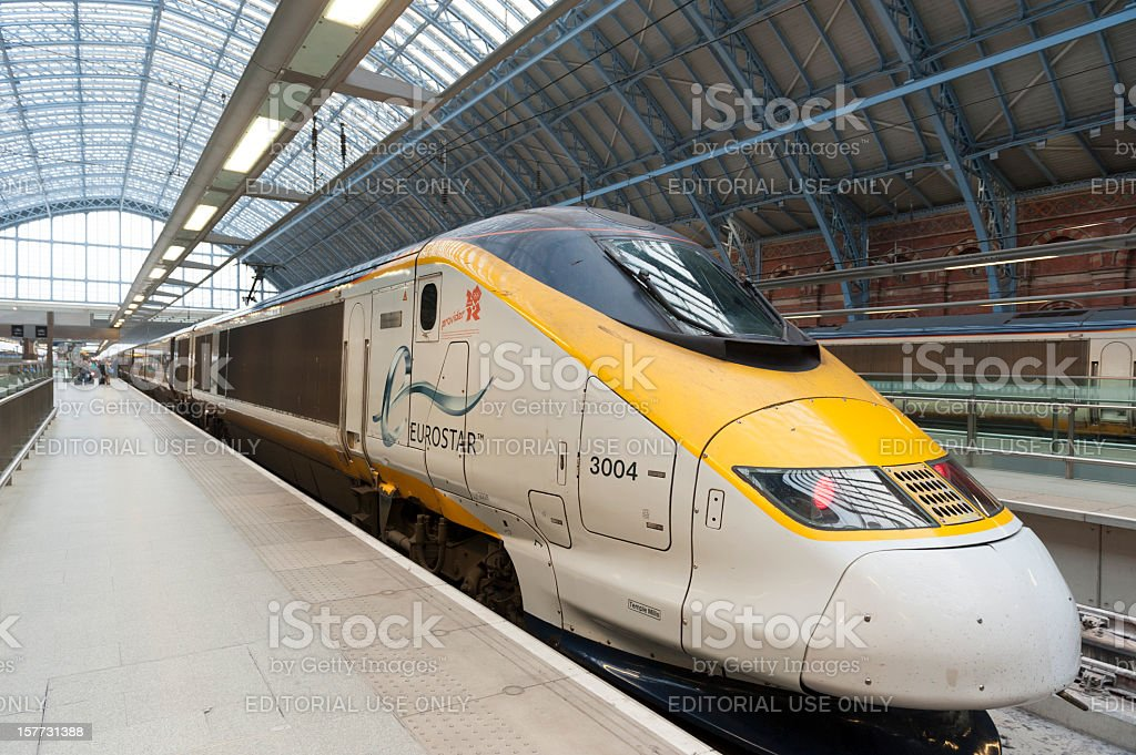 Eurostar Train stock photo
