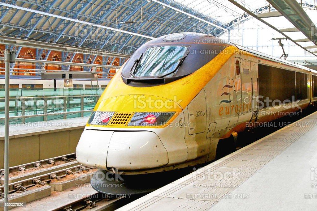 Eurostar train stock photo