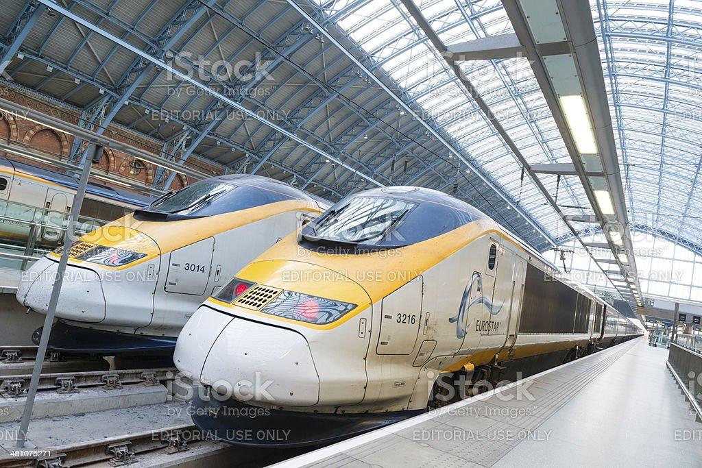I treni Eurostar foto stock royalty-free