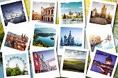 Eurotrip memories shown on polaroid photos  - summer vacations