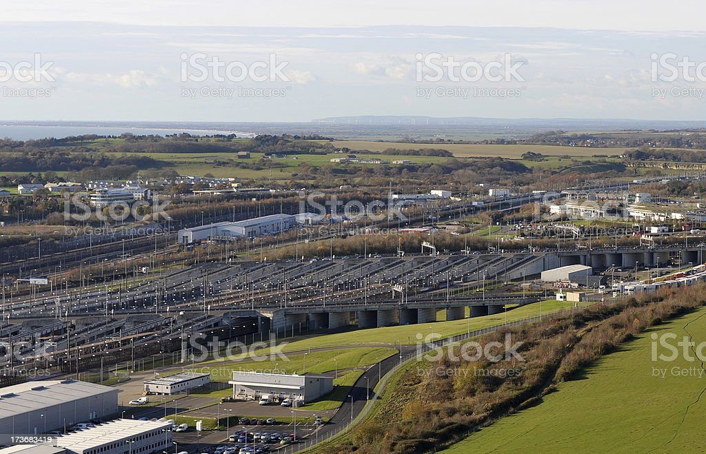 Eurotunnel - Channel Tunnel Terminal, Folkestone, England stock photo