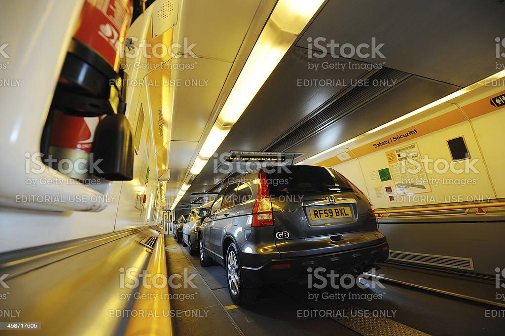 Eurotunnel Shuttle stock photo