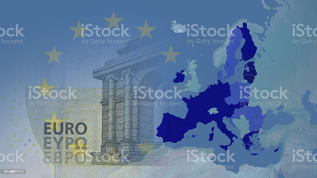Eurozone  (after brexit) 2017 version. stock photo