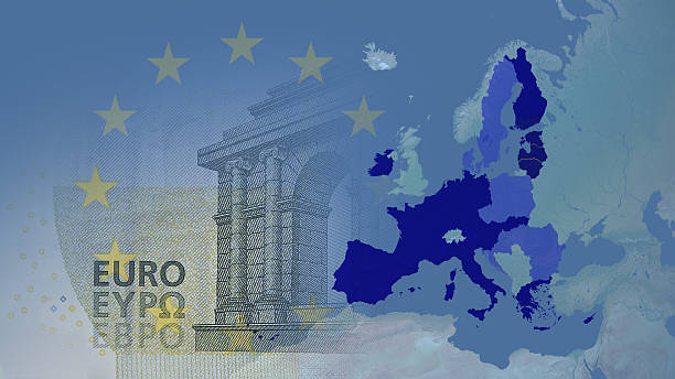 Eurozone  (after brexit) 2017 version. - foto de acervo
