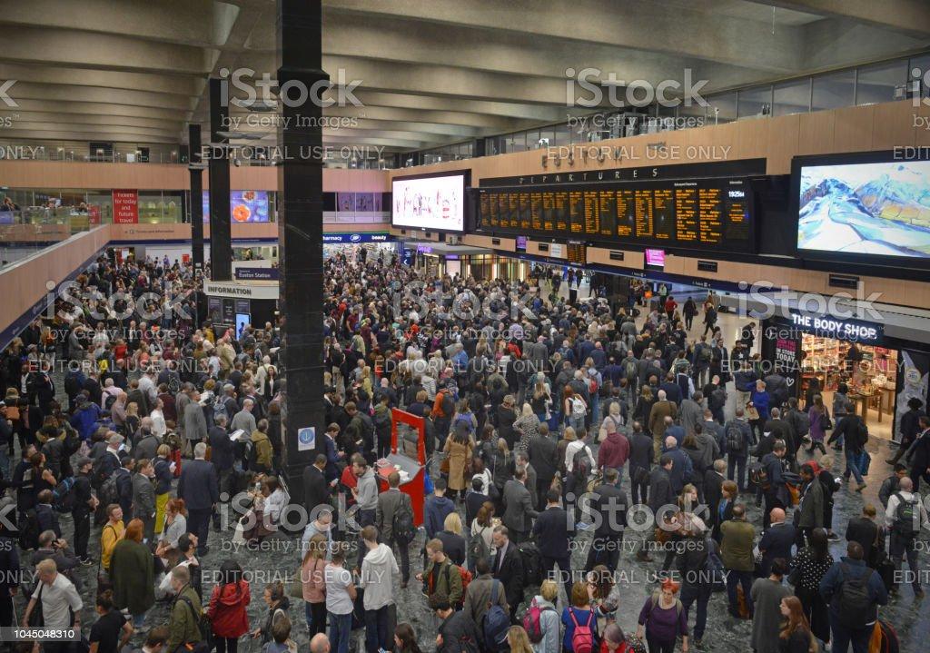 Euston Railway Station stock photo