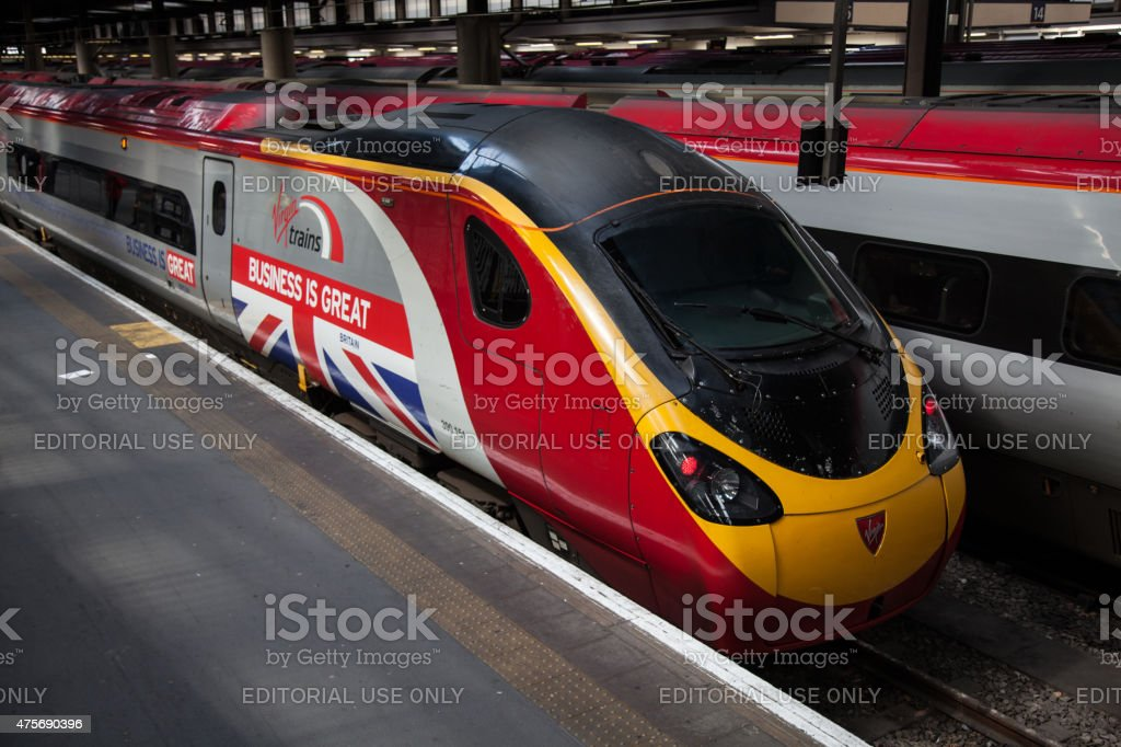 Euston station stock photo