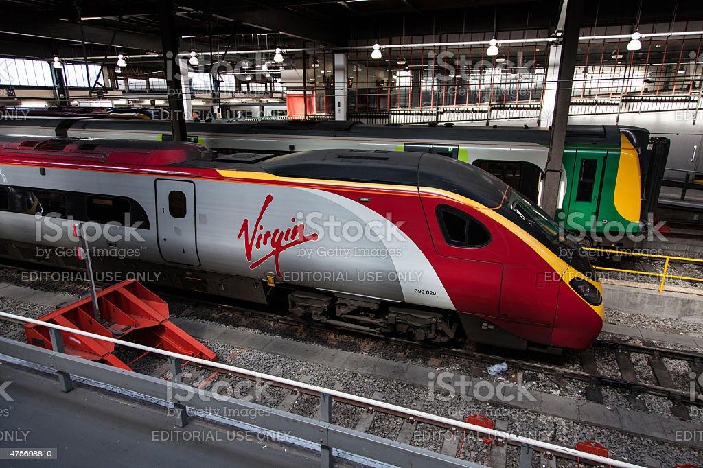 Euston station Virgin Trains stock photo