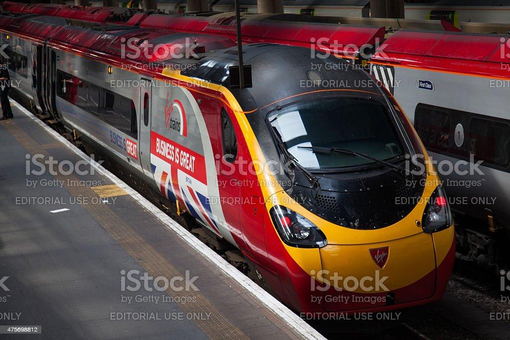 Euston station Virgin Trains. stock photo