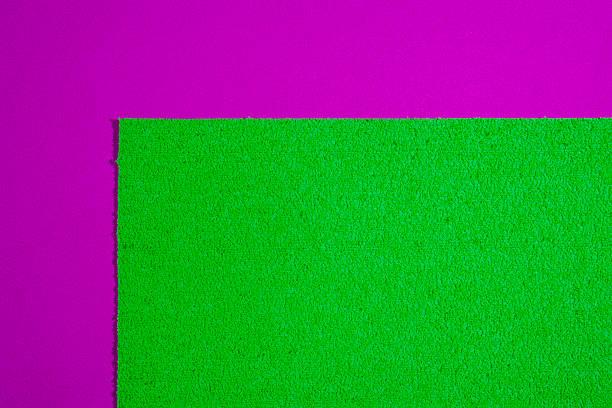 Eva foam apple green on smooth pink - foto de stock
