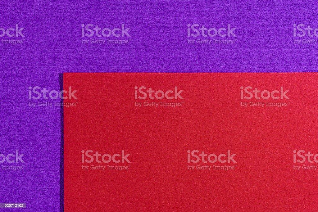 Eva foam smooth red on purple stock photo