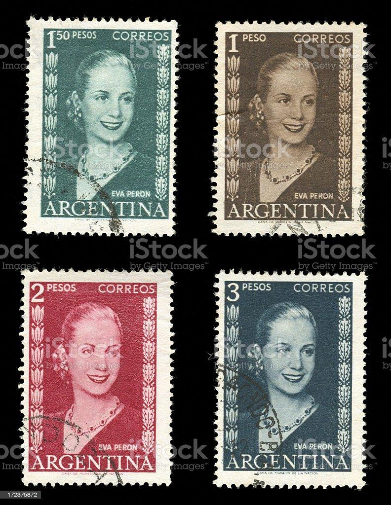 Eva Peron Postage Stamp royalty-free stock photo