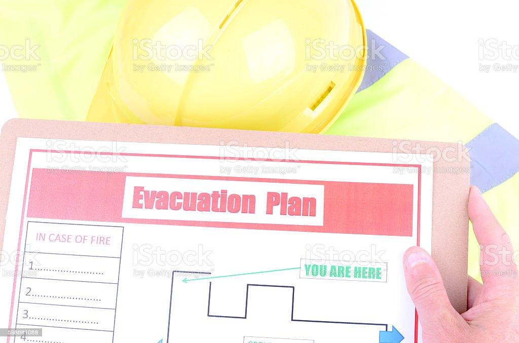 Evacuation Plan stock photo