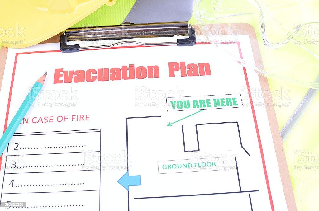 Evacuation Safety Plan stock photo