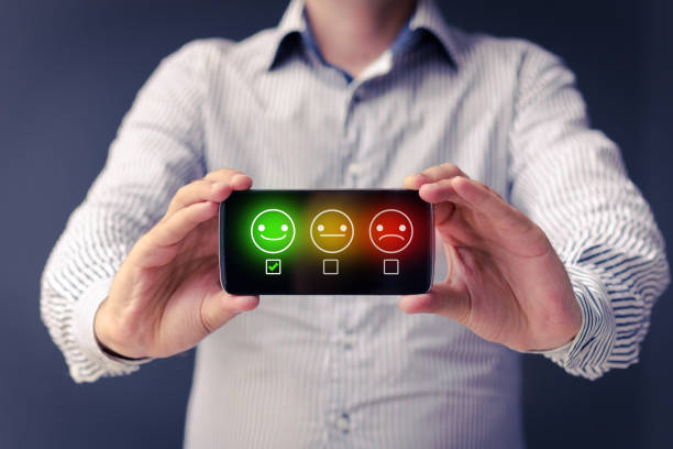 Evaluating customer service satisfaction.