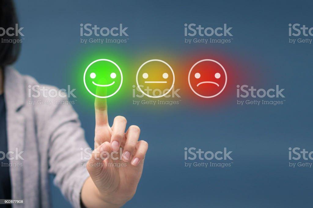 Evaluating customer service satisfaction. royalty-free stock photo