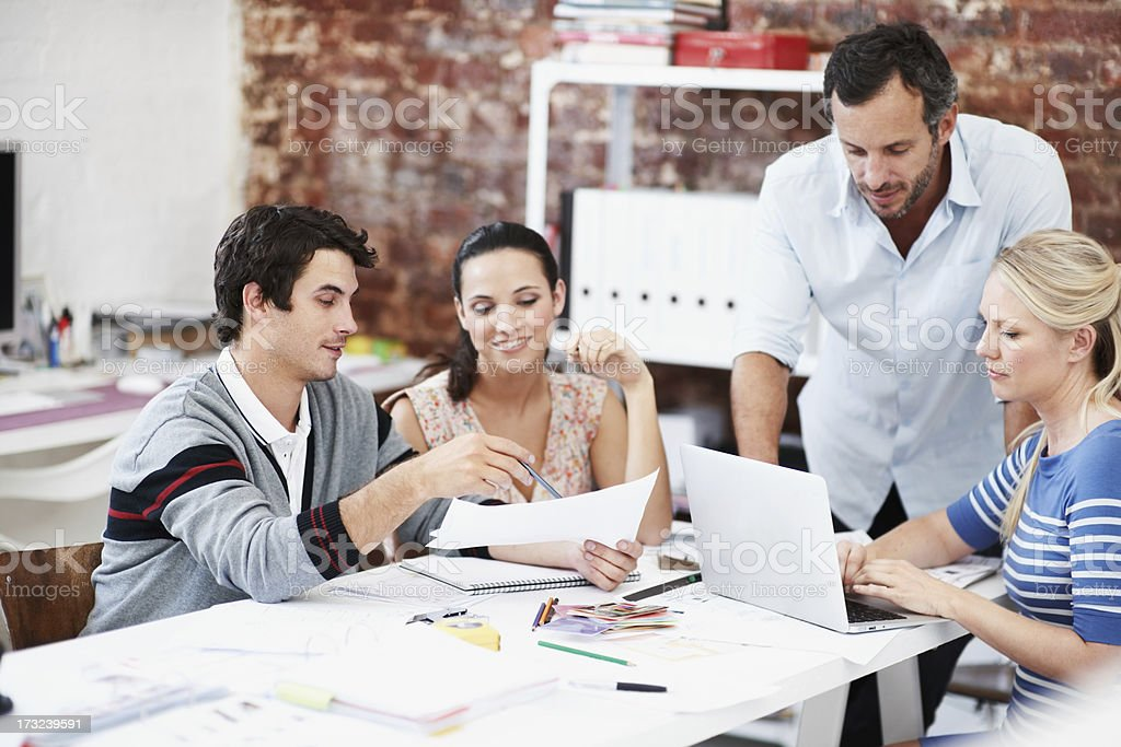 Evaluating their designs - Architectural Teams royalty-free stock photo