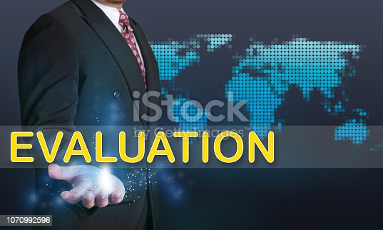 1128693163 istock photo Evaluation, Business Audit Monitoring Motivational Words Quotes Concept 1070992596