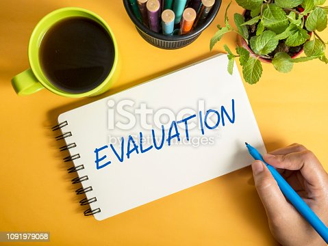 1128693163 istock photo Evaluation, Business Audit Monitoring Motivational Words Quotes Concept 1091979058
