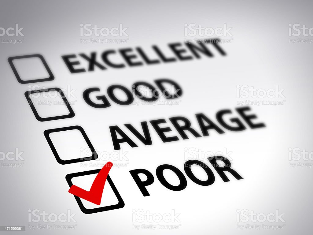 Evaluation form royalty-free stock photo