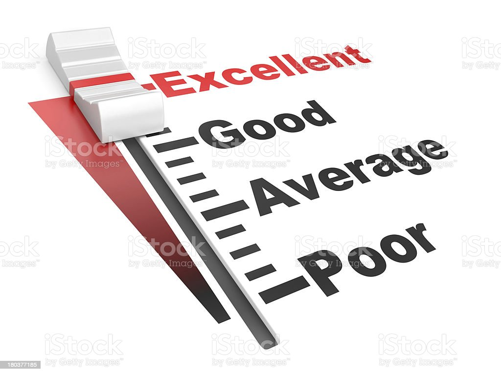 Evaluation rate - excellent, poor. royalty-free stock photo