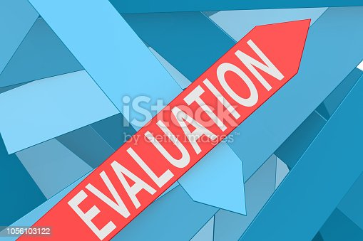 istock Evaluation word on red arrow 1056103122