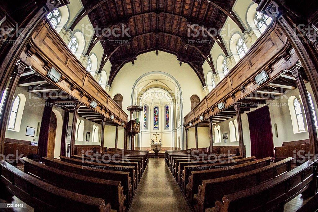 Evangelical Christuskirche in Salzburg Austria stock photo