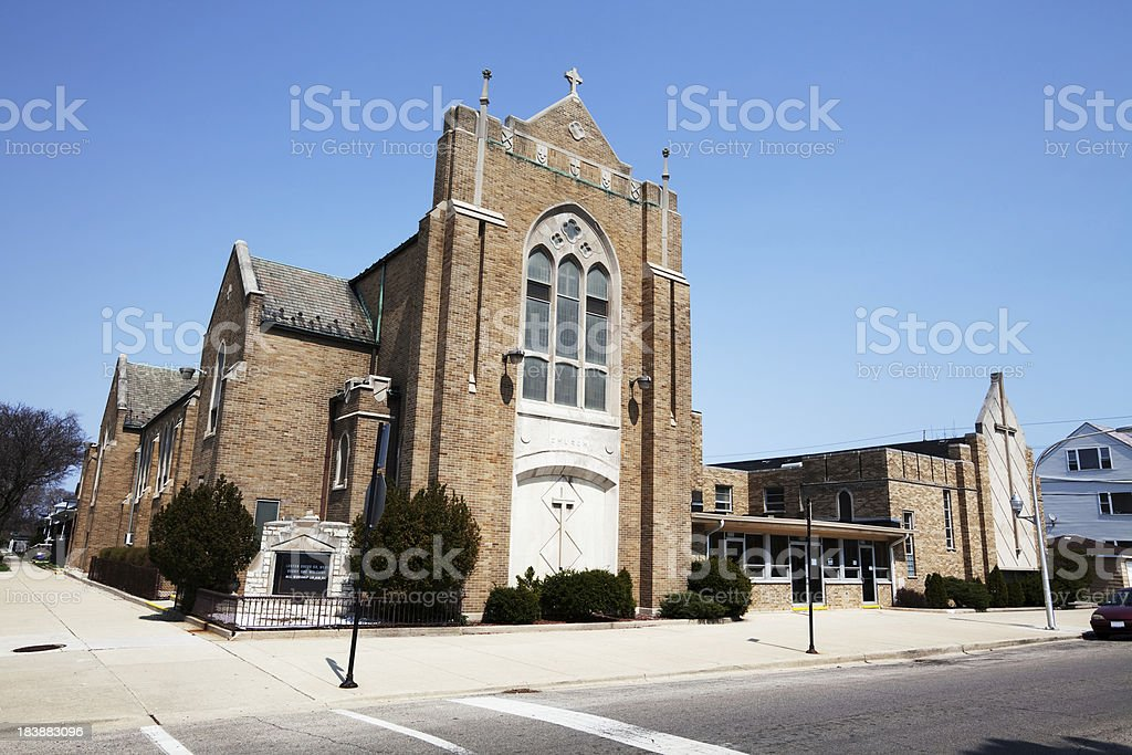 Evangelical Lutheran Church in Chicago Lawn royalty-free stock photo