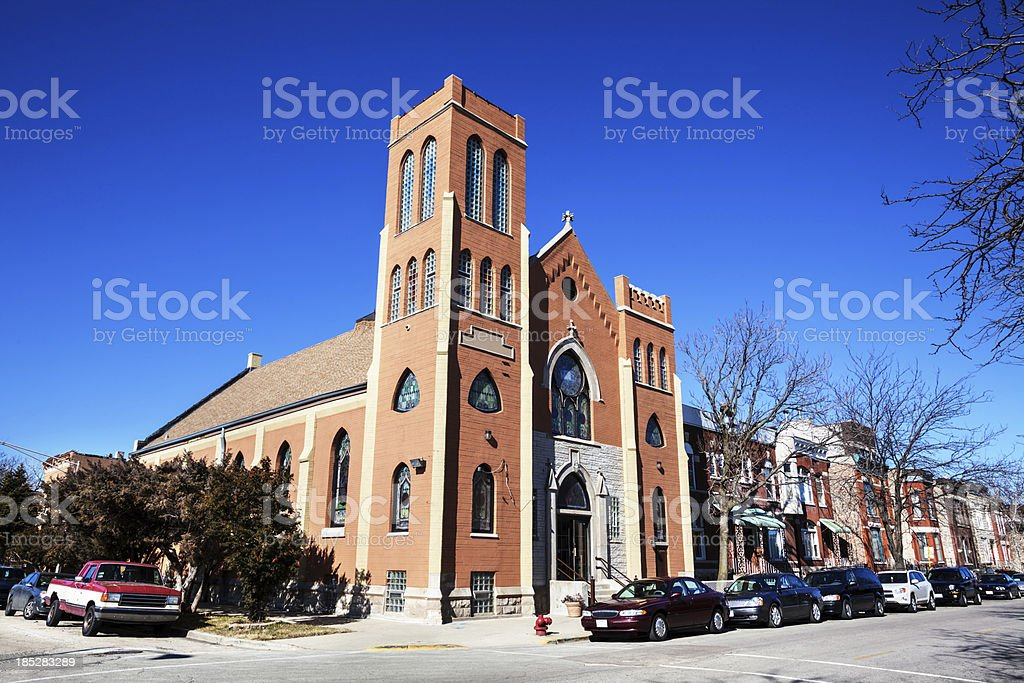 Evangelical Lutheran Church in East Garfield Park, Chicago royalty-free stock photo