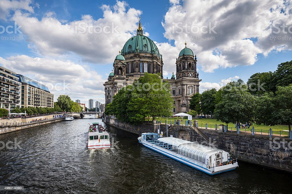 Evangelical neo-renaissance cathedral (Berliner Dom) stock photo