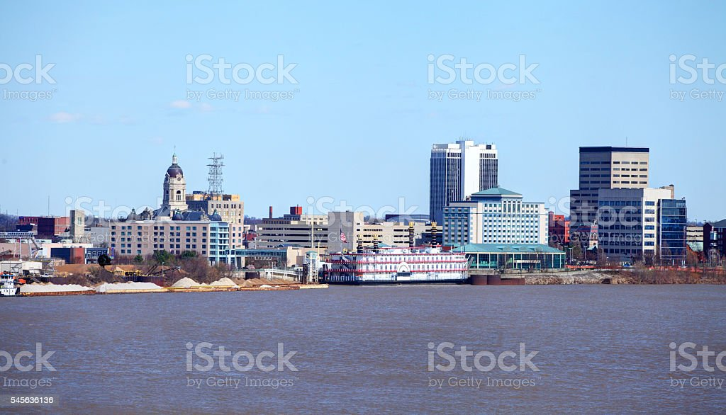 evansville indiana skyline stock photo more pictures of city istock