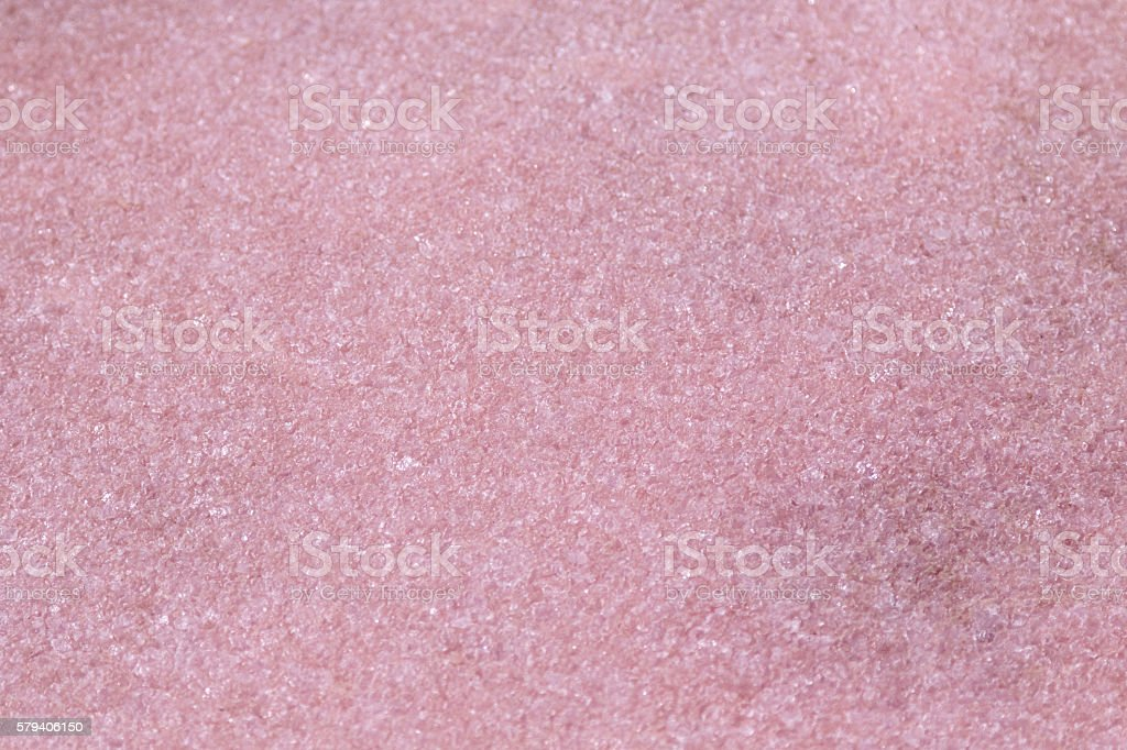 Evaporated salt lake, pink crystals at Coorong National park, Australia stock photo