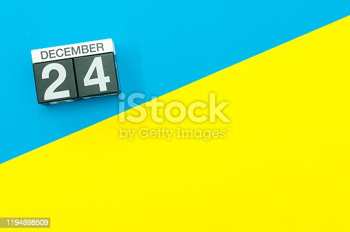 istock Eve. December 24th. Image 24 day of december month, calendar. Marry Christmas 1194698509