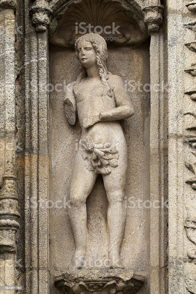 Eve on stone royalty-free stock photo