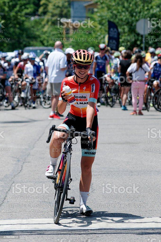Evelyn Stevens at Philadelphia International Cycling Classic stock photo