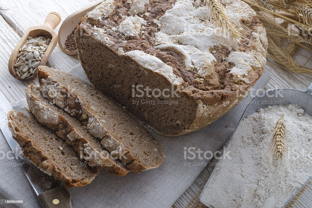 Even baked bread royalty-free stock photo