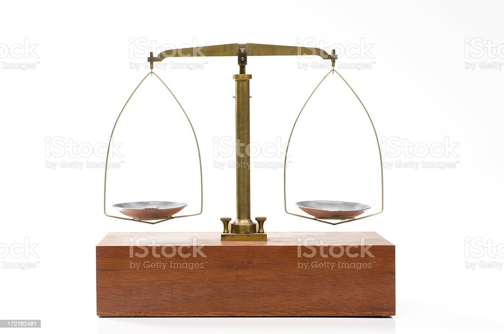Even balance scale royalty-free stock photo
