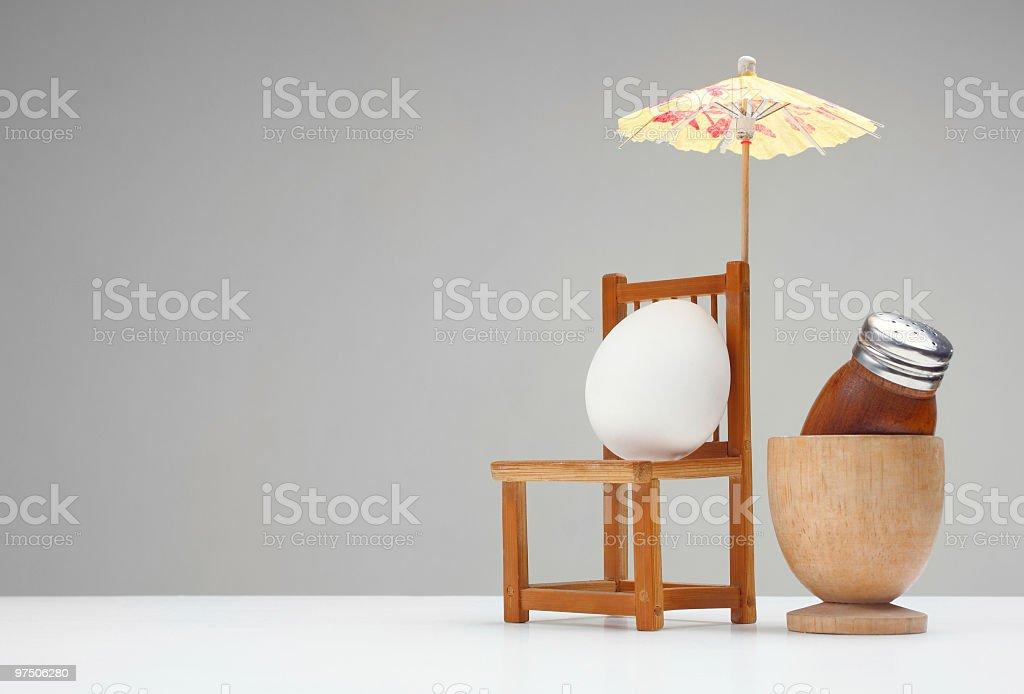 even eggs have the right to vacations royalty-free stock photo