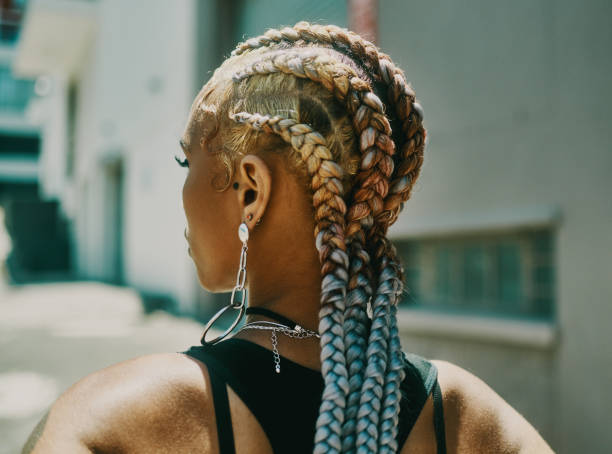 Even my braids have a bit of sass stock photo