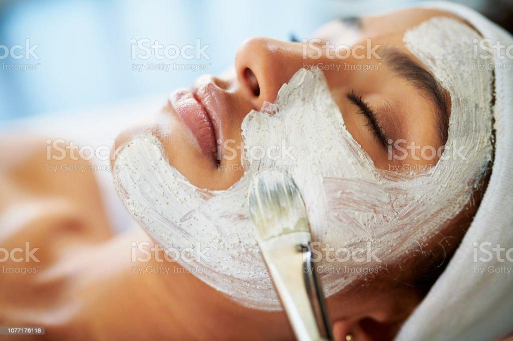 Even your skin deserves to detox stock photo