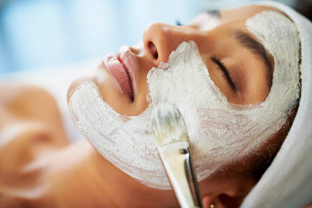 even your skin deserves to detox - chemical peel stock pictures, royalty-free photos & images