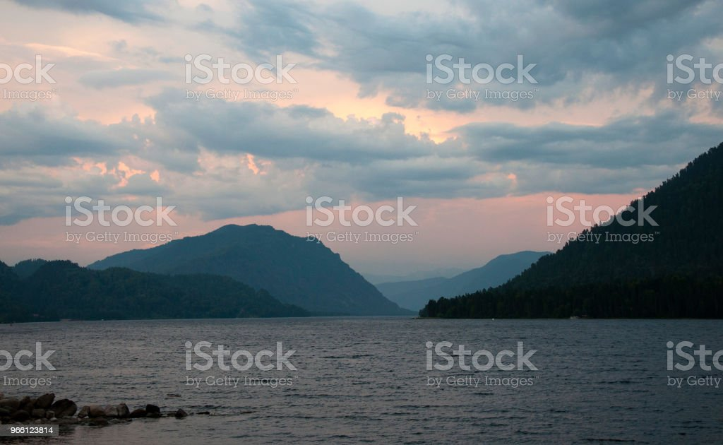 Evening at a mountain lake - Royalty-free Cloud - Sky Stock Photo