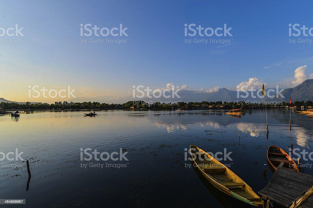 Evening at Dal Lake stock photo