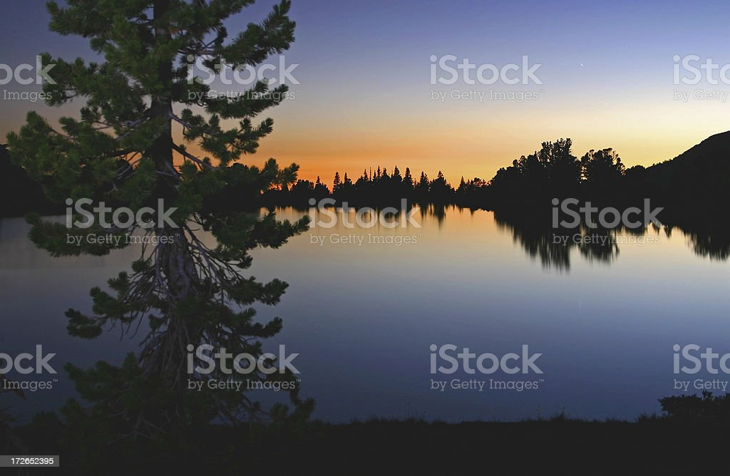 Evening at High Elevation royalty-free stock photo