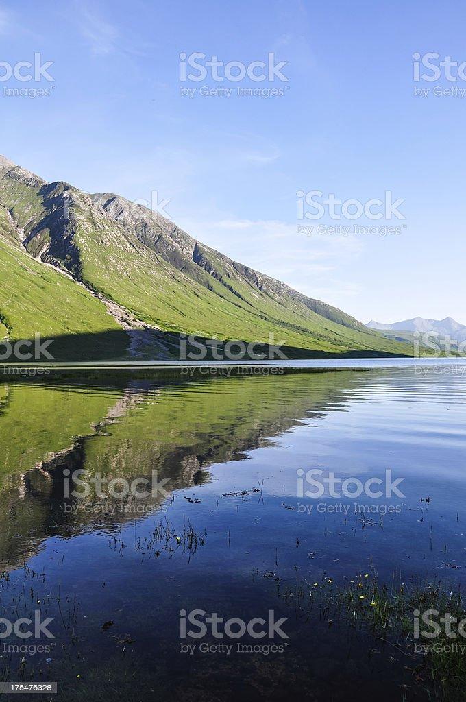 Evening at Loch Etive - Scotland, UK royalty-free stock photo