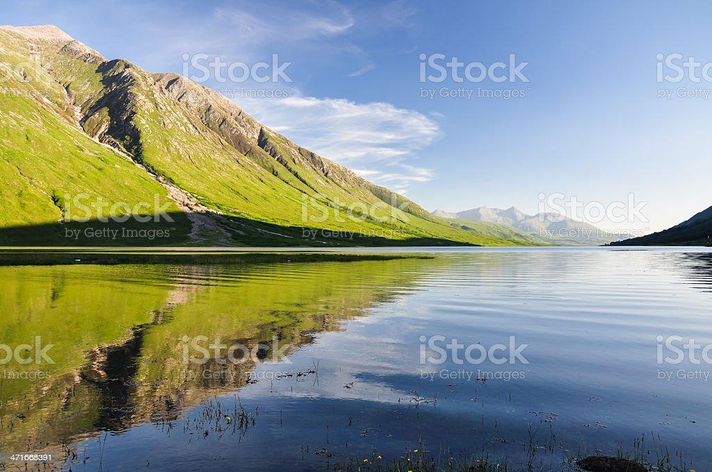 Evening at Loch Etive - Scotland, UK stock photo