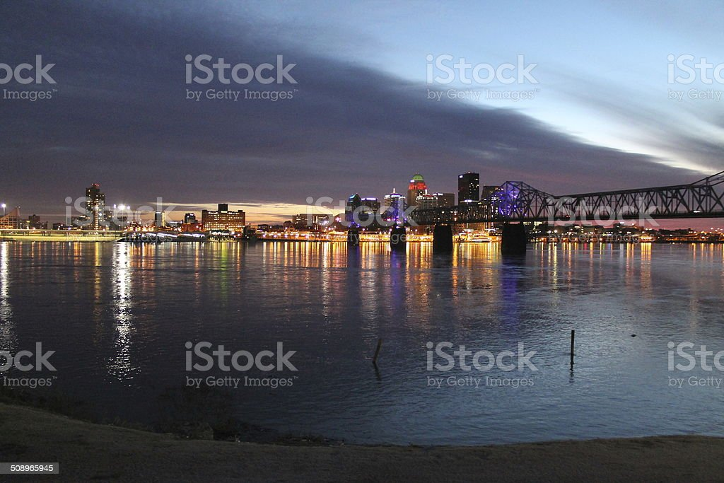 Evening at Louisville, KY stock photo